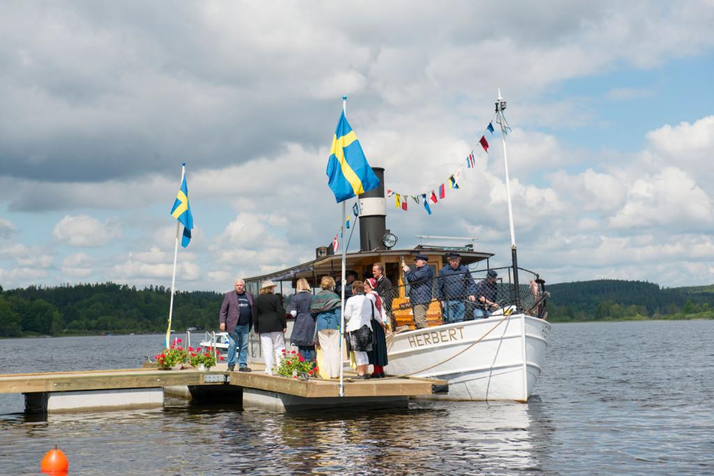 Ångbåten Herbert vid ångbåtsbryggan i Björboholm