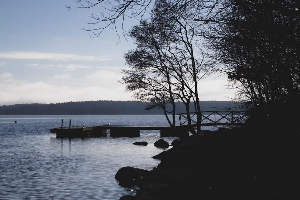 Strandkullepromenaden i Björboholm, vinter 2021.
