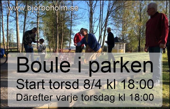 Spela boule i Björboholmsparken